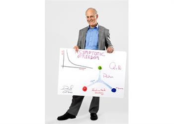 David Gross - David Gross with his 'Sketch of Science'.
