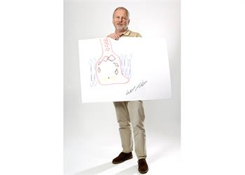 Hartmut Michel - Hartmut Michel with his 'Sketch of Science'.