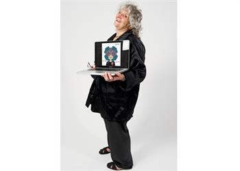 Ada Yonath - Ada Yonath with her 'Sketch of Science'.