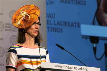 Countess Bettina Bernadotte - Countess Bettina Bernadotte delivering her welcome address at Lindau Nobel Laureate Meeting 2016.