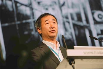Takaaki Kajita - Takaaki Kajita holding his lecture 'Atmospheric Neutrinos' at the 66th Lindau Nobel Laureate Meeting.