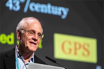 David Gross - David Gross lecturing on 'One Hundred Years of General Relativity - The Enduring Legacy of Albert Einstein' at the 66th Lindau Nobel Laureate Meeting.