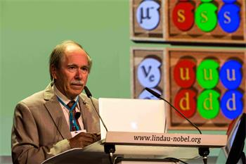 Gerardus 't Hooft - Gerardus 't Hooft on 'How One Single Elementary Particle Can Make the Difference' at the 66th Lindau Nobel Laureate Meetings.