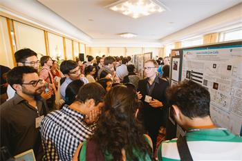 Poster Session  - Young scientists at the Poster Session of the 66th Lindau Nobel Laureate Meeting.