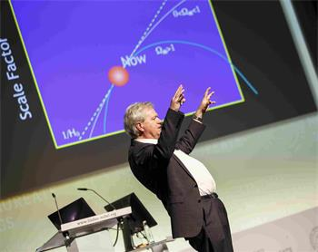 Brian Schmidt - Brian Schmidt explains 'State of the Universe' at the 66th Lindau Nobel Laureate Meetings.