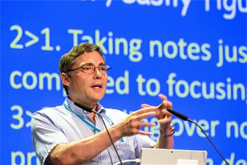 Carl Wieman - Carl Wieman lecturing on 'A Scientific Approach to Learning Physics' at the 66th Lindau Nobel Laureate Meeting.