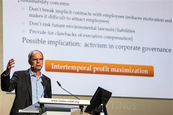 Jean Tirole - Jean Tirole holding his lecture on 'Moral Reasoning, Markets and Organisations'