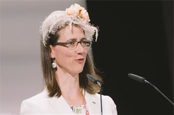 Countess Bettina Bernadotte - Countess Bettina Bernadotte delivering her welcome speech at the opening ceremony of the 68th Lindau Nobel Laureate Meeting