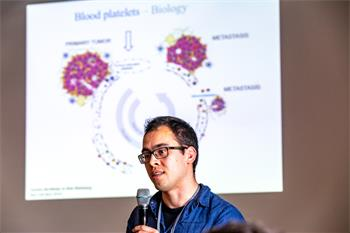 Young Scientist - Young scientist presenting his research during a Master Class at the 68th Lindau Nobel Laureate Meeting